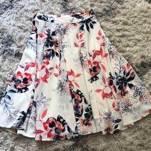 Ro & De midi skirt, floral, size small